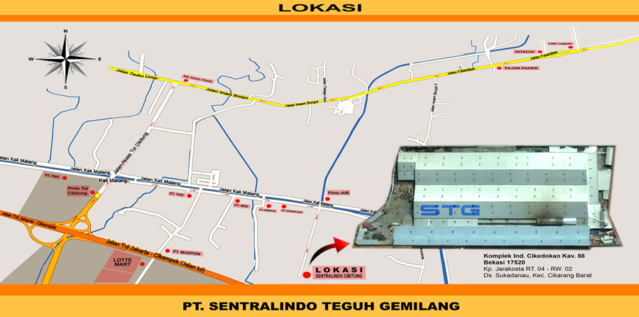 Peta Lokasi STG